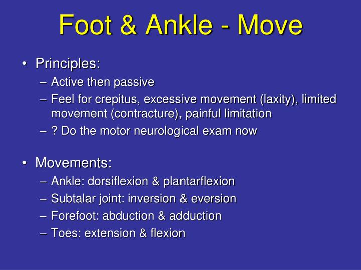 Foot & Ankle - Move