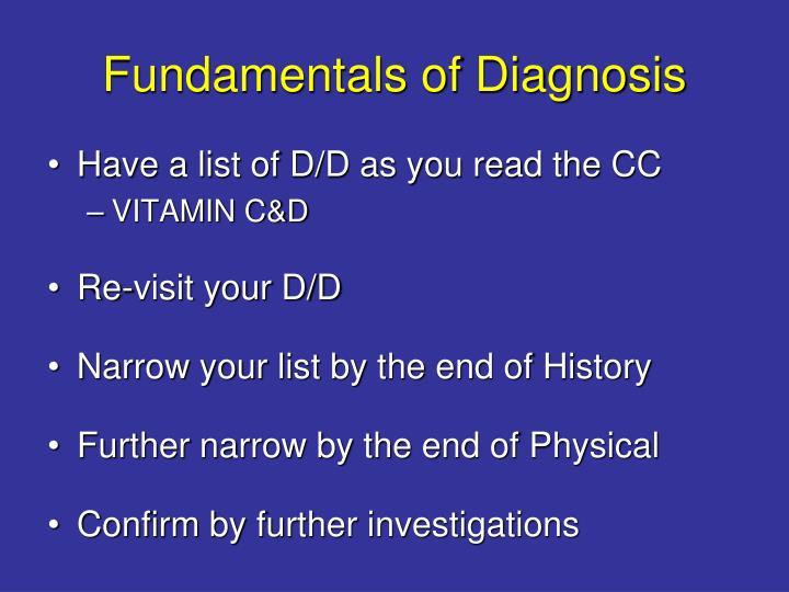 Fundamentals of diagnosis