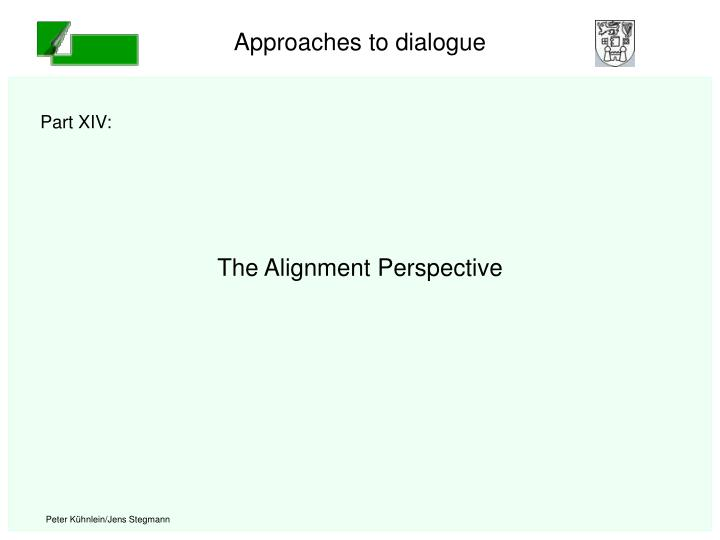 the alignment perspective n.