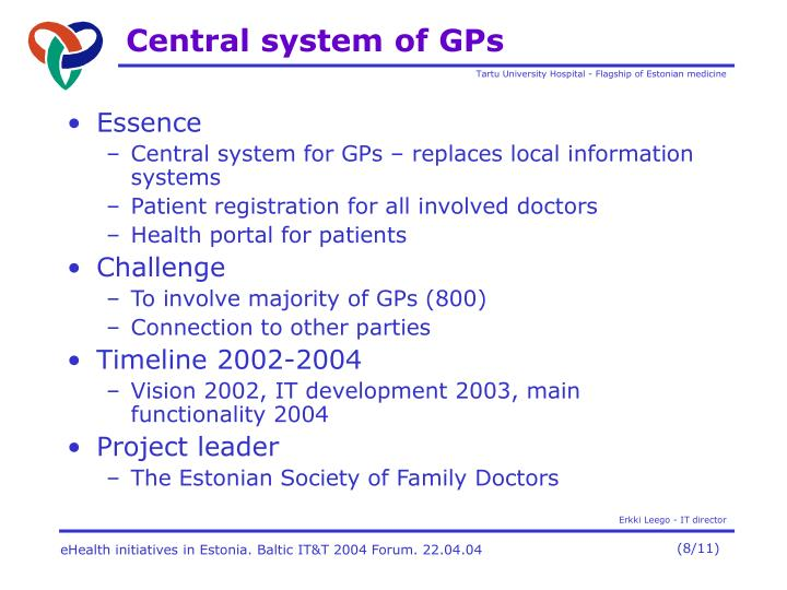 Central system of GP
