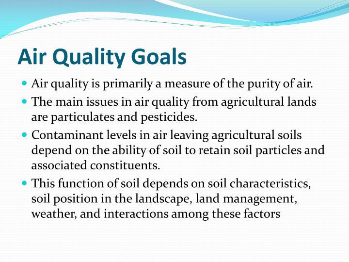 Air Quality Goals