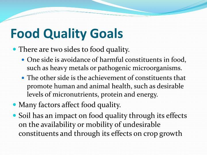 Food Quality Goals