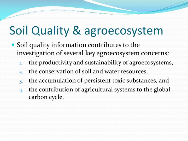 Soil Quality & agroecosystem