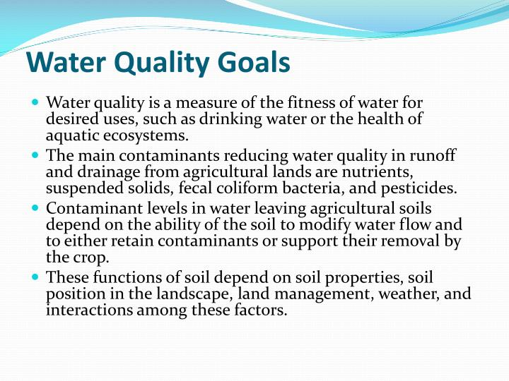 Water Quality Goals