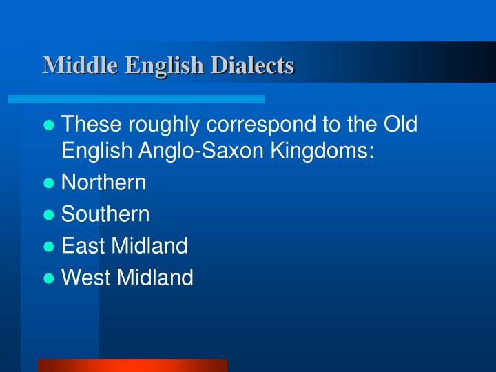 Middle English Dialects