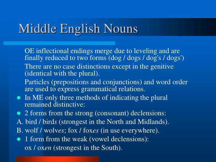 Middle English Nouns