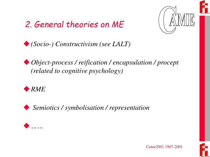 2. General theories on ME