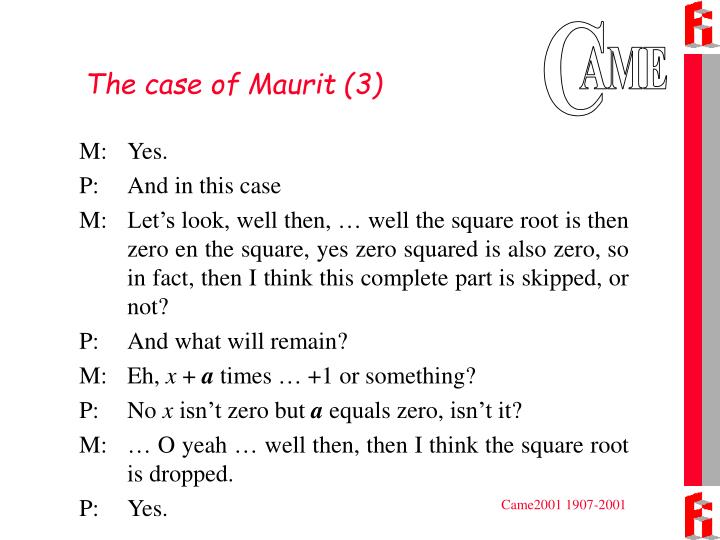 The case of Maurit (3)