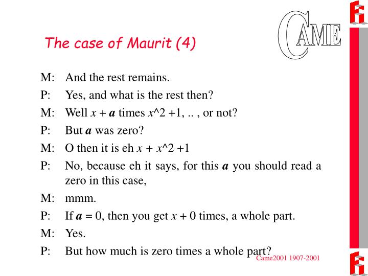 The case of Maurit (4)