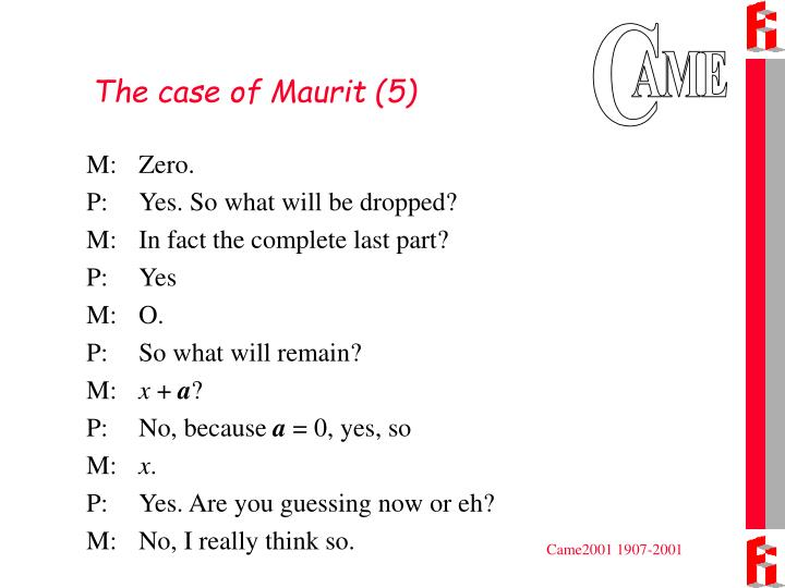 The case of Maurit (5)