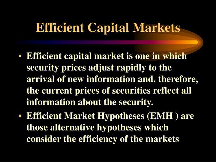 efficient capital market hypothesis