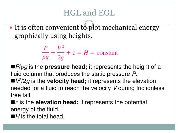 HGL and EGL