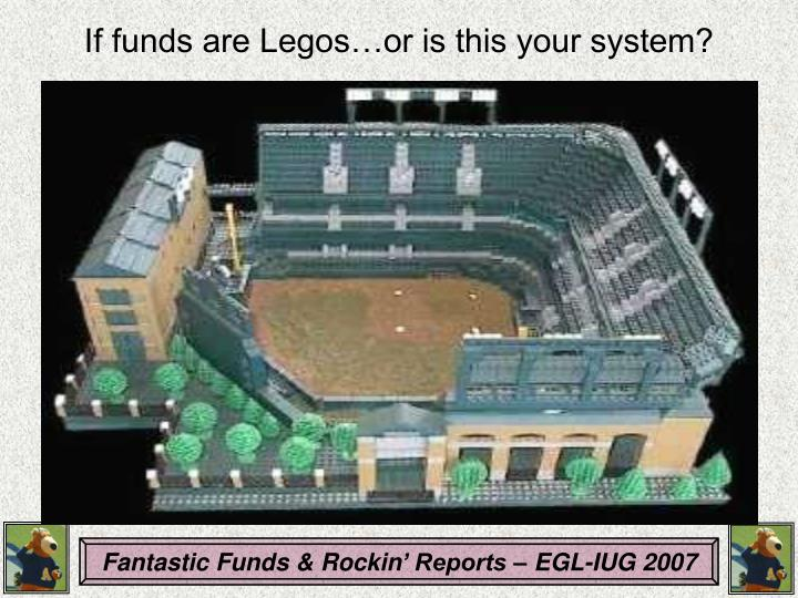 If funds are Legos…or is this your system?