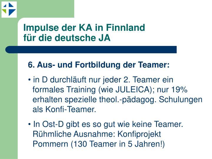 Impulse der KA in Finnland