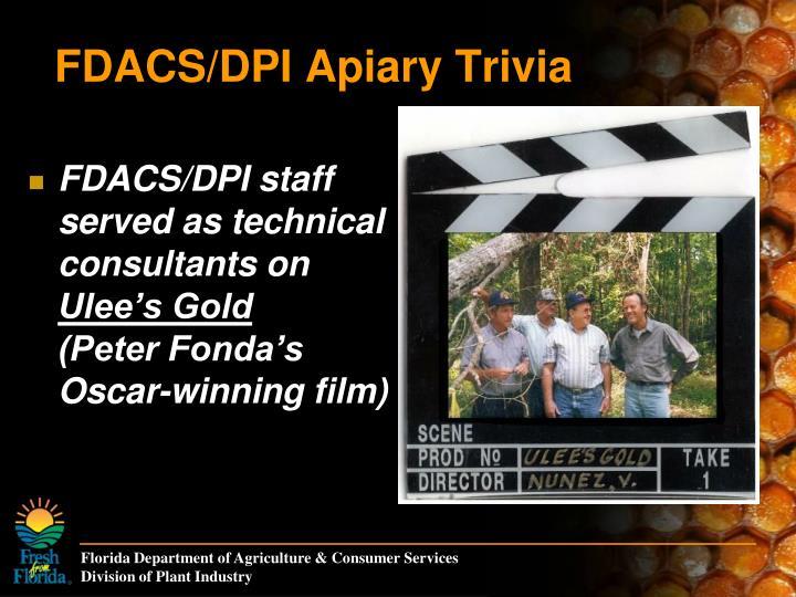 FDACS/DPI Apiary Trivia