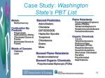 case study washington state s pbt list