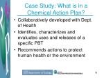 case study what is in a chemical action plan