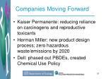 companies moving forward