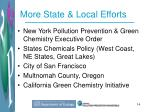 more state local efforts