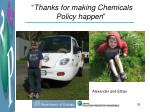 thanks for making chemicals policy happen