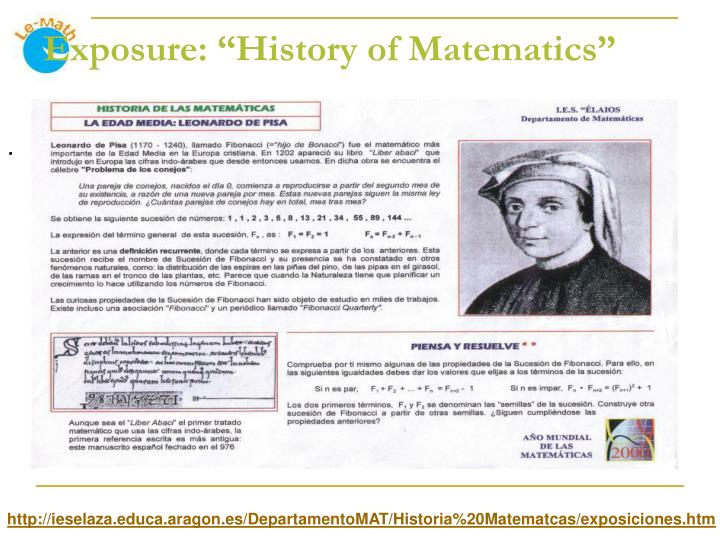 "Exposure: ""History of Matematics"""
