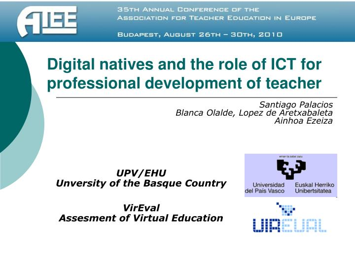 digital natives and the role of ict for professional development of teacher n.