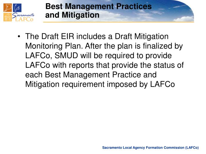 Best Management Practices