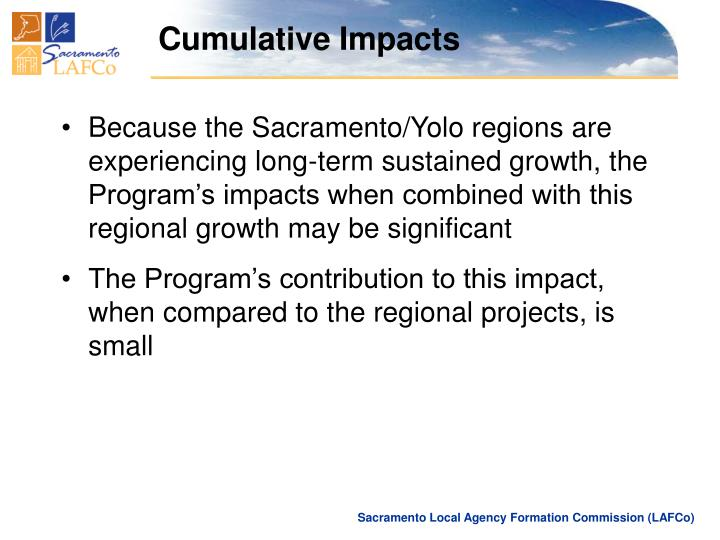 Cumulative Impacts