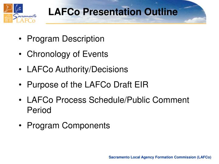 LAFCo Presentation Outline