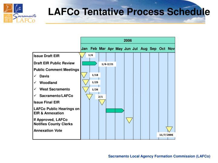 LAFCo Tentative Process Schedule