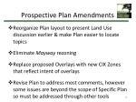 prospective plan amendments