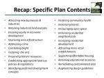 recap specific plan contents