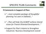 specific plan comments