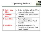 upcoming actions