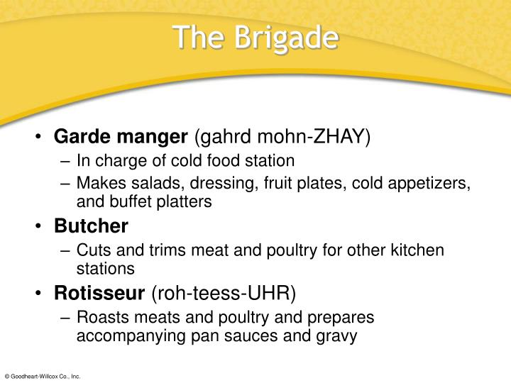 introduction to garde manger Introduction to garde manger sandwiches, appetizers and hor's d'oeuvres fruit and vegetables grains, legumes and pasta introduction to stocks, sauces and soups.