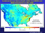 combined aerosol optical depth aod from modis and misr instruments for 2001 2006