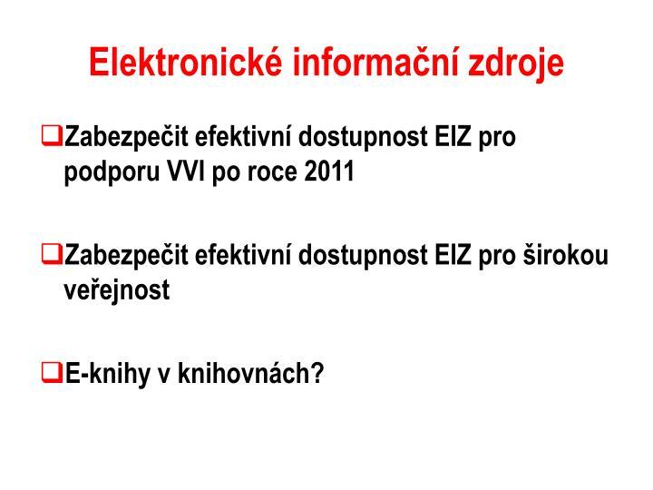 Elektronické informační zdroje