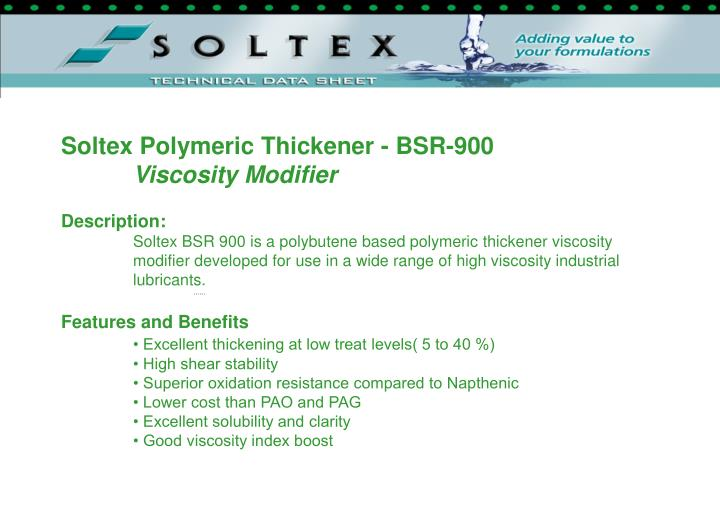 Soltex Polymeric Thickener - BSR-900