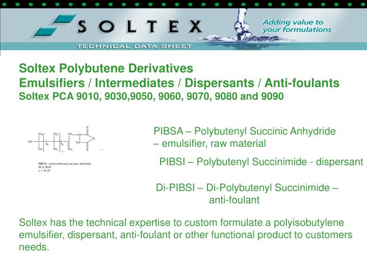 Soltex Polybutene Derivatives