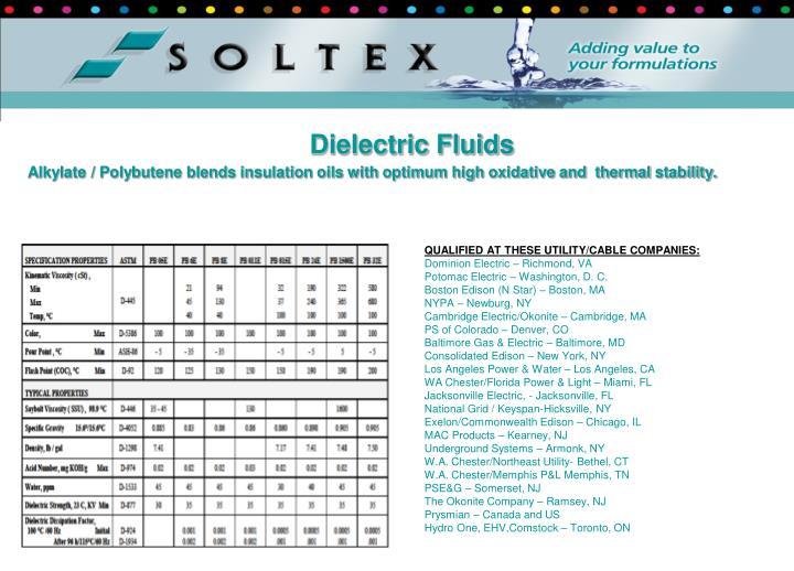 Dielectric Fluids