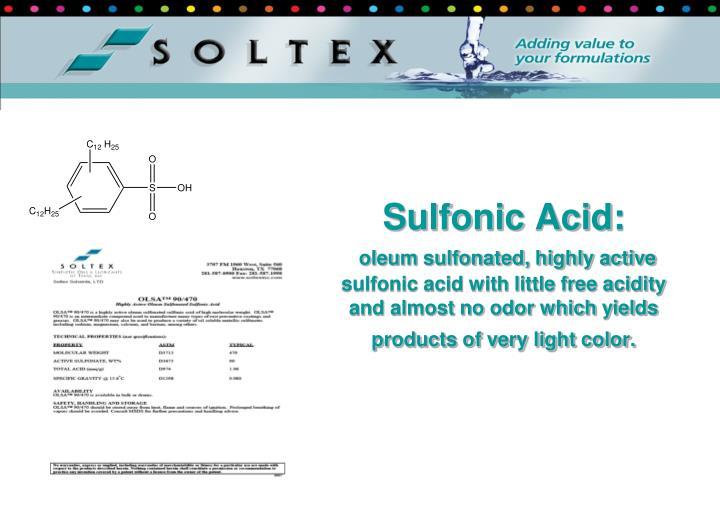 Sulfonic Acid: