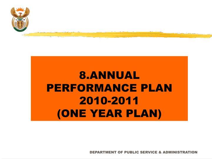 8.ANNUAL PERFORMANCE PLAN 2010-2011