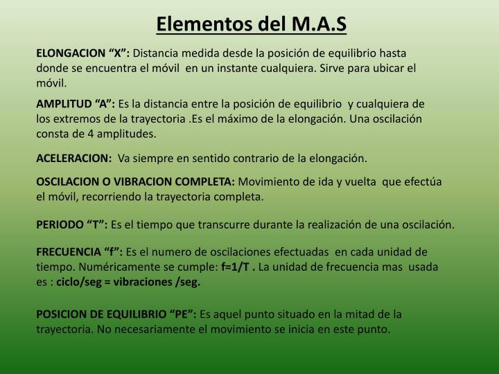Elementos del m a s