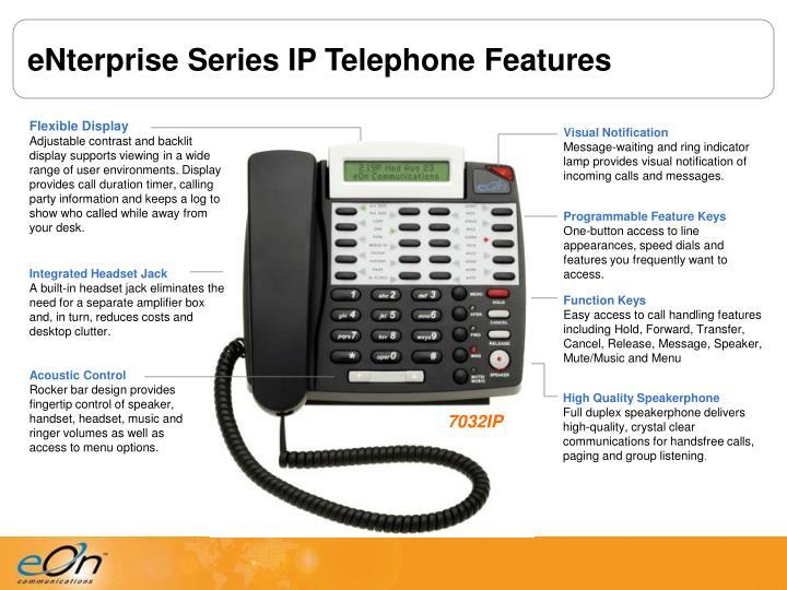 eNterprise Series IP Telephone Features