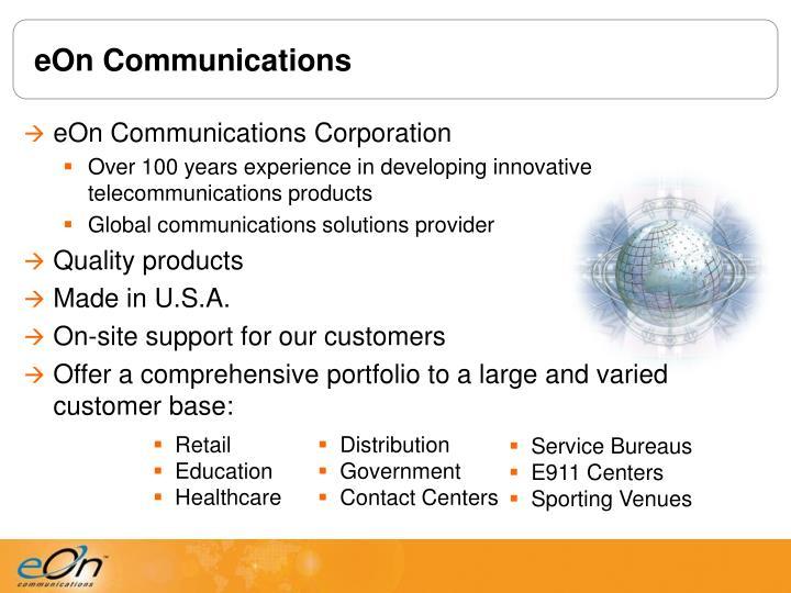 Eon communications