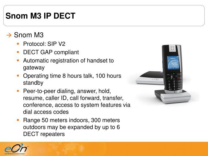 Snom M3 IP DECT