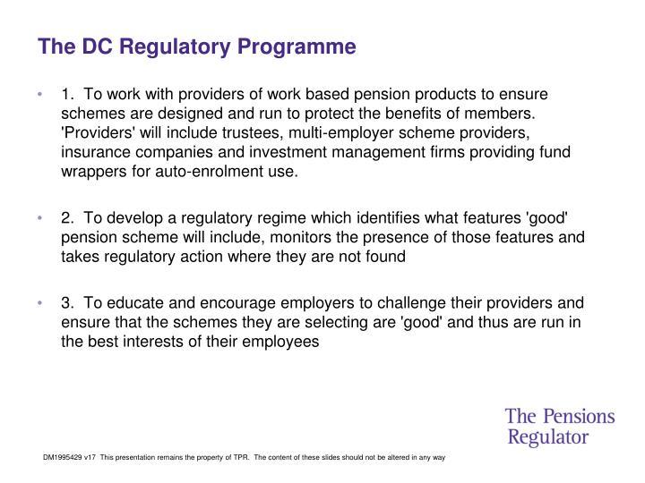The DC Regulatory Programme