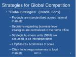 strategies for global competition