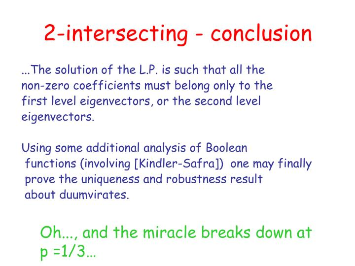 2-intersecting - conclusion