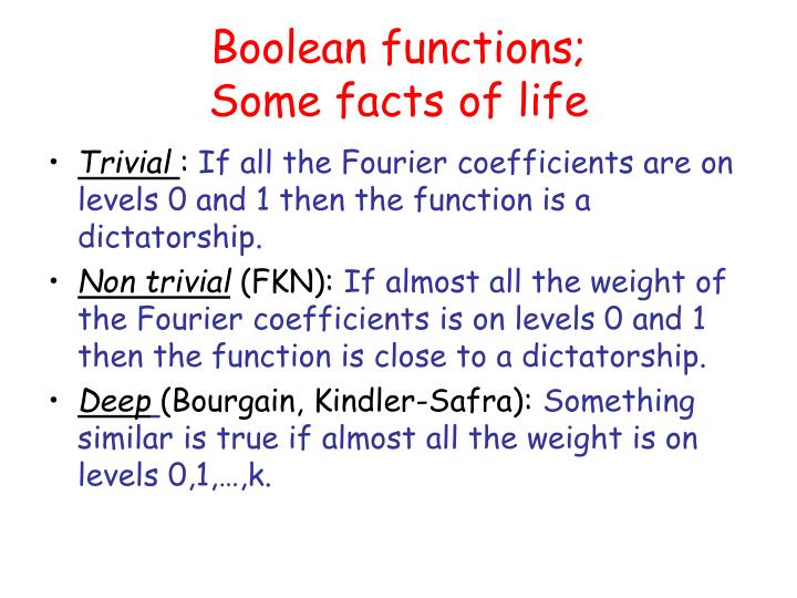 Boolean functions;